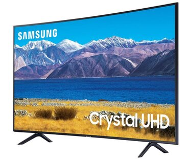 SAMSUNG 65-inch Class Curved UHD TU-8300 Series - 4K UHD HDR Smart TV With Alexa Built-in
