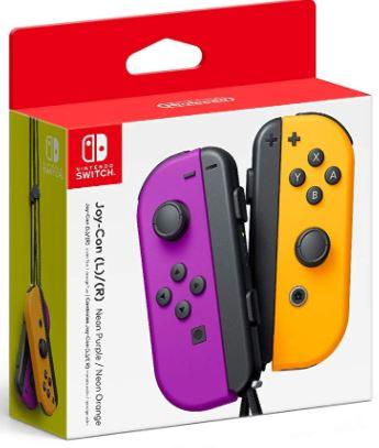 Nintendo Neon Purple/ Neon Orange Joy-Con (L-R) - Switch. # neon orange joy #nintendo controls